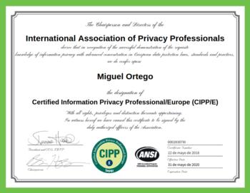 Diploma Miguel Ortego Territorio Digital